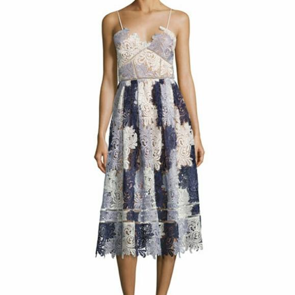 230d8dc1d96a Self-Portrait Dresses | Selfportrait Camellias Guipure Dress Size 4 ...